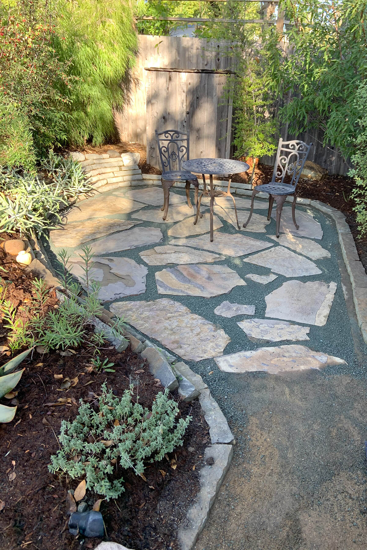 flagstone seating area